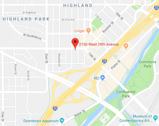 Denver therapy office counseling map